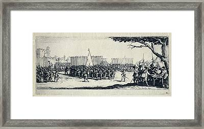 Troop Recruitment. Engraving From The Framed Print by Everett