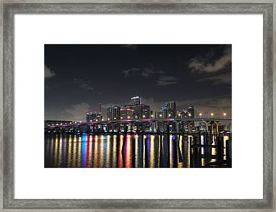 Trooper Bridge Miami Framed Print