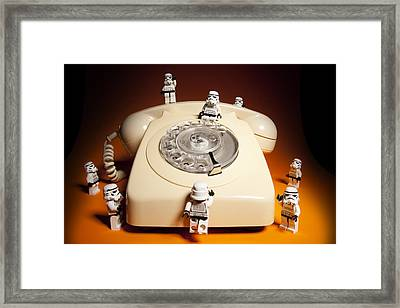 Trooper Comm. Centre Framed Print by Samuel Whitton