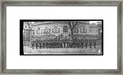 Troops In Front Of Hdqrs. 3rd Corps Framed Print