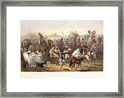 Troops Of The Native Allies Framed Print by British Library