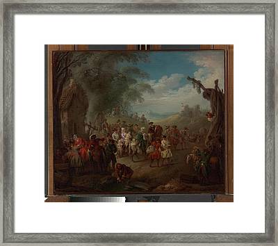 Troops On The March Framed Print by Jean-Baptiste Joseph Pater