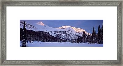 Trophy Mountain British Columbia Canada Framed Print by Panoramic Images