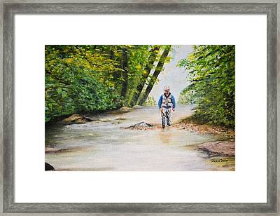 Framed Print featuring the painting Trophy Stream by Debbie Baker