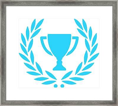 Trophy With Laurel Wreath Framed Print by Chokkicx