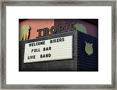 Tropic Theatre Framed Print by Laurie Perry