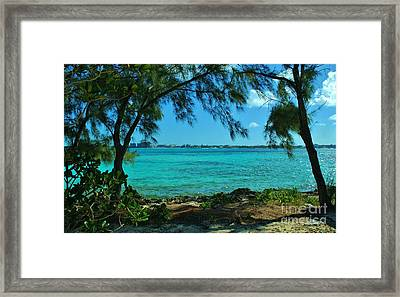 Tropical Aqua Blue Waters  Framed Print