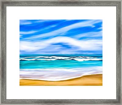 Tropical Beach Dreams - Caribbean Sea Framed Print