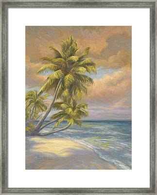 Tropical Beach Framed Print by Lucie Bilodeau