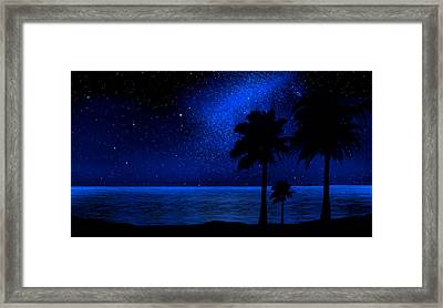Tropical Beach Wall Mural Framed Print