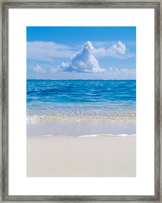 Tropical Beach With Blue Skies Framed Print by Panoramic Images