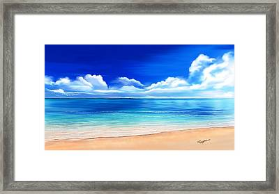 Tropical Blue Framed Print by Anthony Fishburne