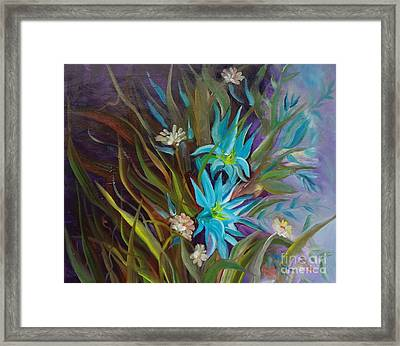 Tropical Blue Framed Print by Jenny Lee