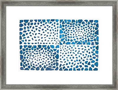 Framed Print featuring the mixed media Tropical Blue by Kjirsten Collier