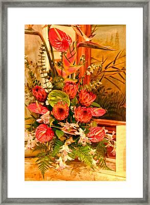 Tropical Bouquet Framed Print