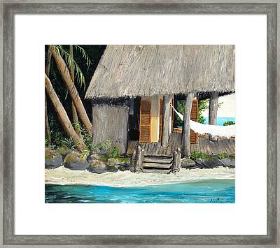Framed Print featuring the painting Tropical Breeze by Alan Lakin