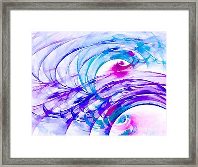 Tropical Breeze Framed Print by Peggy Hughes