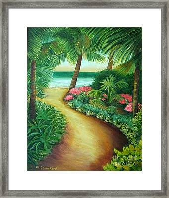 Framed Print featuring the painting Tropical Breezes by Shelia Kempf