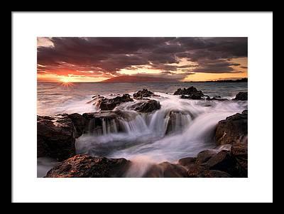Maui Sunset Photographs Framed Prints
