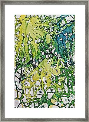 Framed Print featuring the painting Tropical Confusion by Joan Hartenstein