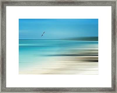 Tropical Cove Horizon Framed Print by Deborah Smith