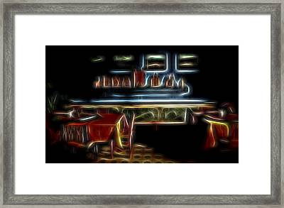 Framed Print featuring the digital art Tropical Dining Room 1 by William Horden