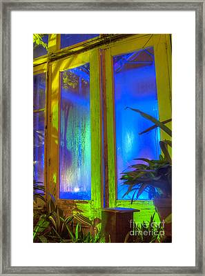 Tropical Door Framed Print
