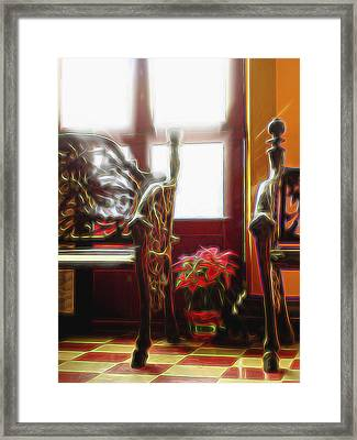Framed Print featuring the digital art Tropical Drawing Room 1 by William Horden