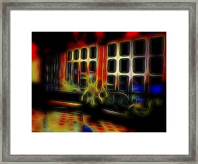 Framed Print featuring the digital art Tropical Drawing Room 2 by William Horden