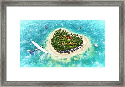 Tropical Dream Framed Print by Marina Likholat