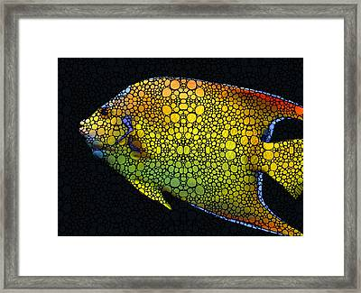 Tropical Fish 12 - Abstract Art By Sharon Cummings Framed Print by Sharon Cummings