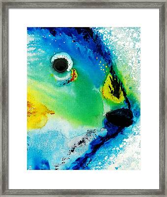 Tropical Fish 2 - Abstract Art By Sharon Cummings Framed Print