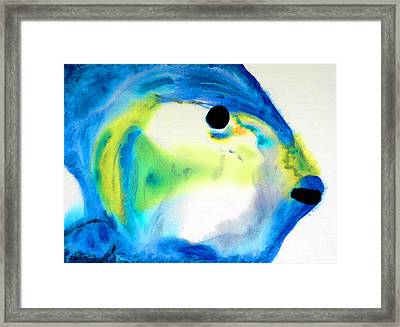 Tropical Fish 3 - Abstract Art By Sharon Cummings Framed Print