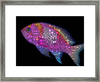 Tropical Fish 7 - Pink Art By Sharon Cummings Framed Print by Sharon Cummings