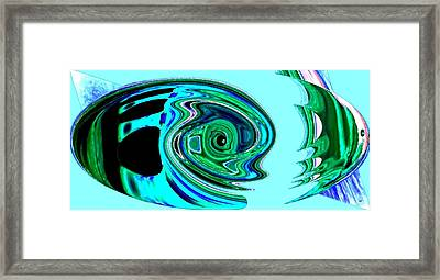 Tropical Fish Abstract Framed Print by Will Borden