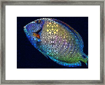 Tropical Fish Art 6 - Painting By Sharon Cummings Framed Print by Sharon Cummings