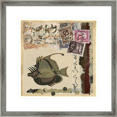 Tropical Fish Collage Framed Print