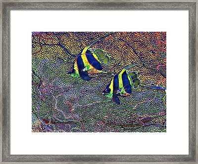 Coral Reef Tropical Fish Colorful Water Art Framed Print by David Mckinney