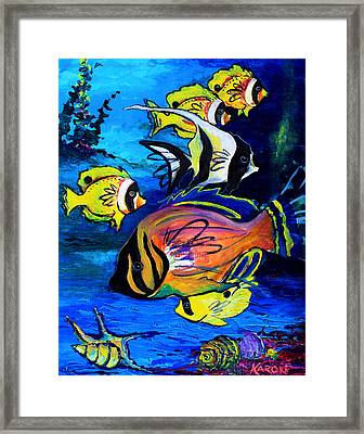 Tropical Fish Framed Print by Karon Melillo DeVega