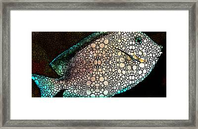Tropical Fish - Ocean Deep Dive Framed Print by Sharon Cummings