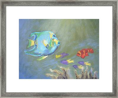 Tropical Fish Framed Print by Patricia Kimsey Bollinger