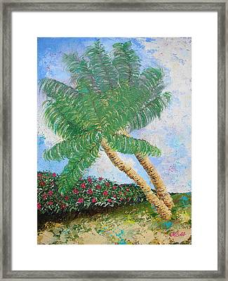 Framed Print featuring the painting Tropical Flair by Margaret Bobb