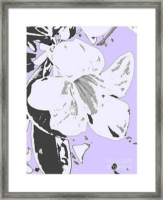 Tropical Floral Violet Black Framed Print