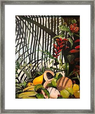 Framed Print featuring the painting Tropical Fruit by Alan Lakin