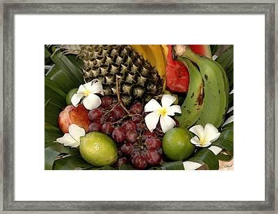 Tropical Fruit Basket Framed Print by Cole Black