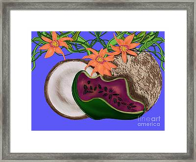 Tropical Fruit Framed Print by Christine Fournier