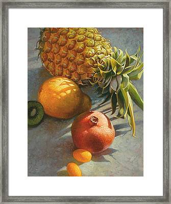 Framed Print featuring the painting Tropical Fruit by Mia Tavonatti
