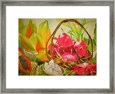 Tropical Fruit Framed Print by Sacha Grossel