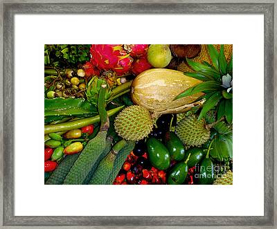 Tropical Fruits Framed Print by Carey Chen