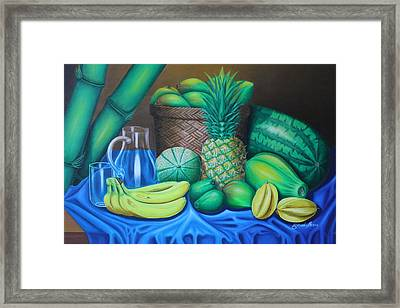 Tropical Fruits Framed Print by Gani Banacia
